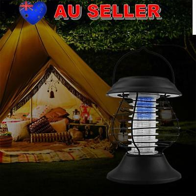 AU! Handheld Solar Rechargeable Mosquito Fly Bug Insect Zapper Killer Lamp