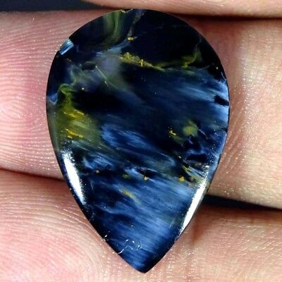 12.20Cts. A+ Natural Amazing Flashy Pietersite Pear Cabochon Loose Gemstone