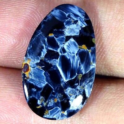 12.40Cts. A+ Natural Amazing Flashy Pietersite Pear Cabochon Loose Gemstone