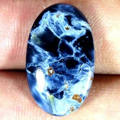 12.60Cts 100% Natural Blue Pietersite Oval Cabochon Loose Gemstone