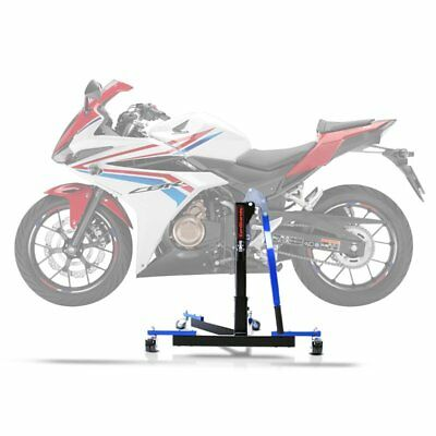 Cavalletto Alza Moto Centrale CS Power Evo Honda CBR 500 R 16-19 blu
