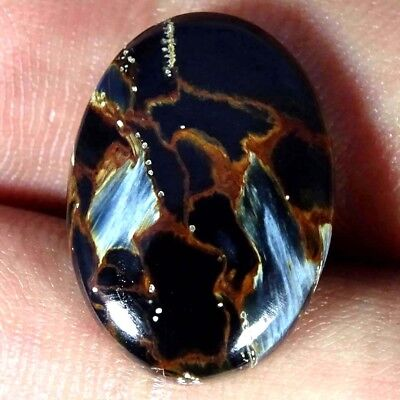 12.10Cts 100% Natural Blue Pietersite Oval Cabochon Loose Gemstone