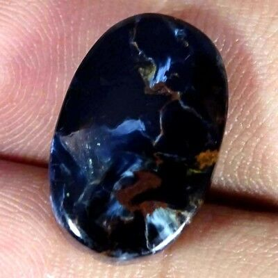 8.10Cts AA+ Natural Blue Pietersite Oval Cabochon Loose Gemstone