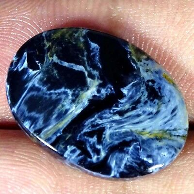 10.70Cts 100% Natural Blue Pietersite Oval Cabochon Loose Gemstone