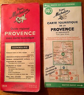 Guide rouge Michelin Provence 1938
