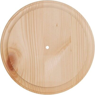 """Pine Wood Clock Face-11"""" Round - Use 700p & 800p Movements"""