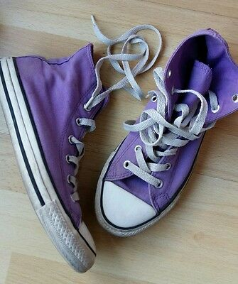 b350a7f277f5e Converse ALL STAR - Baskets montantes -toile violet - taille 35 convient 36