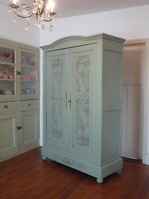 Antique Painted French Armoire Wardrobe