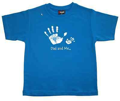 "New Boys T-Shirt  ""DAD AND ME"" - Kids Boys or Girls - Tee Top Sizes: 0,2,4,6,8"