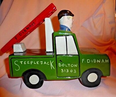 Lorna Bailey Limited Edition Fred Dibnah Steeplejack Teapot 21/100 Signed In Red