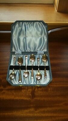 Vintage Set 6 EPNS Coffee Spoons In Original Presentation Box