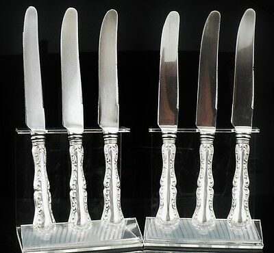 Set of 6 Birks of Canada Sterling Silver Dinner Knives in the Louis XV Pattern