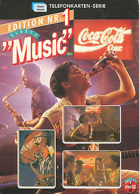 "O- 592 A-C (03.93) ""Coca-Cola - Music"" kpl. im FOLDER - VOLL - 5.000"
