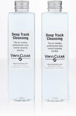 Vinyl Clear Professional Record Cleaning Fluid Solution Kit Deep Track Cleansing