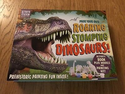 Paint Your Own Roaring Stomping Dinosaurs