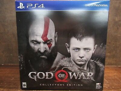 Brand New Sealed God Of War: Collector's Edition (2018, Playstation 4)