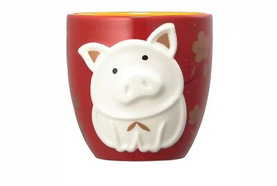 2019 Starbucks Chinese New Year Pig Zodiac Red Yellow Ceramic Mug / Cup -No Card