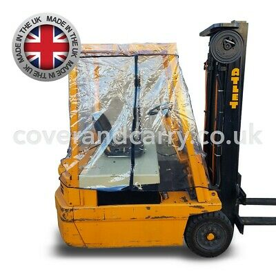 Forklift Rain cover, Made in the UK, Supersoft clear PVC