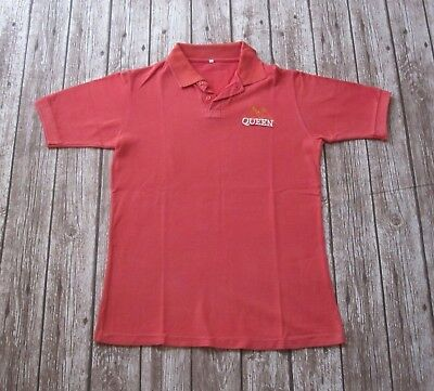 QUEEN  : Official Vintage Promo Polo T-Shirt - Freddie Mercury Bohemian Rhapsody