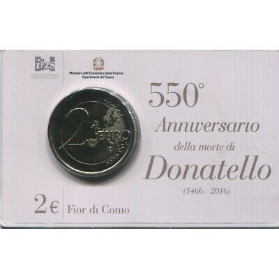 2 Euros Commémorative Italie 2016 B.U. - Donatello 2016