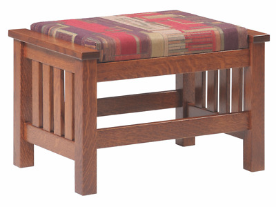 Mission Arts and Crafts Stickley Style Prairie Spindle Ottoman Made to Order!