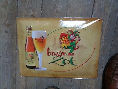 Brugse Zot reclame beer sign metal new in blister