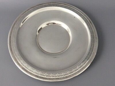 "Antique 9"" Sterling Silver Serving Dish / Charger Plate / 925 / 211g"
