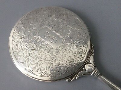 Antique Art Deco 1920s Birks Sterling Silver Magnifying Hand Mirror