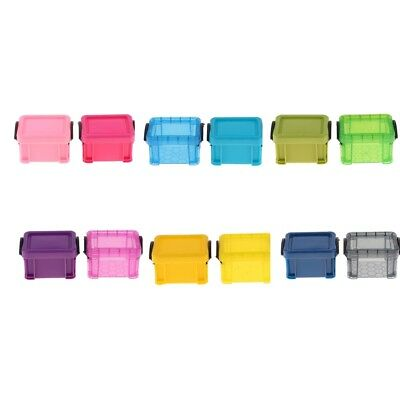 Doll Accessories Storage Case For 1/6 Dollhouse Kids Toy Plastic Containers