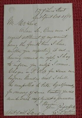 1873, Letter, From - Southport, Merseyside - McLeod