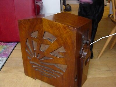 Pye Art Deco 1930's Valve Radio Type MM Transportable AC Superhet