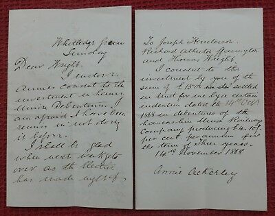 1868, Letters, Whitledge Green, Wigan (Henry Ackerley) Greater Manchester