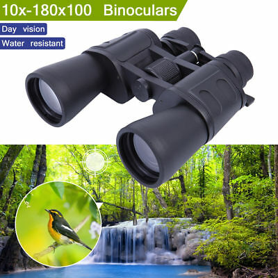 10-180 x 100 Zoom Day Vision Outdoor Travel Binoculars Hunting Telescope Case