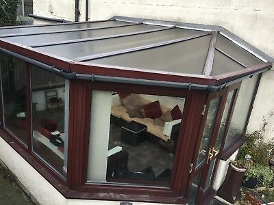 Used brown upvc conservatory with working blinds for sale as a whole or in parts