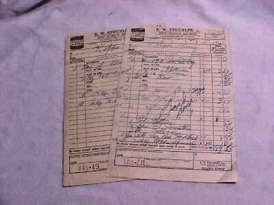 R W Strickler York PA 1963 Receipts Strickler Oyster Can Illustrated Qty of (2)