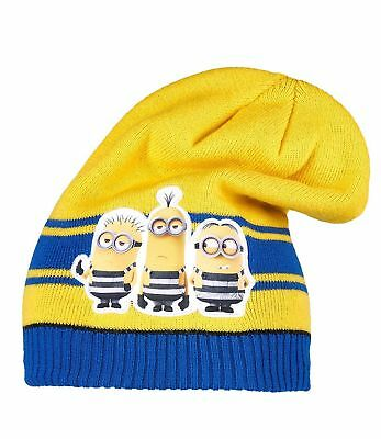 Boys Girls Kids Official Licensed Minions Despicable Me Yellow Winter Hat