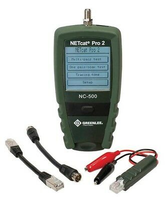 Greenlee NC-500 NEW NETcat Pro VDV Troubleshooter Test Set
