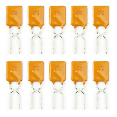 10Pcs PTC Resettable Fuses Thermistor Polymer Self-Recovery Fuses 30V/1.85A
