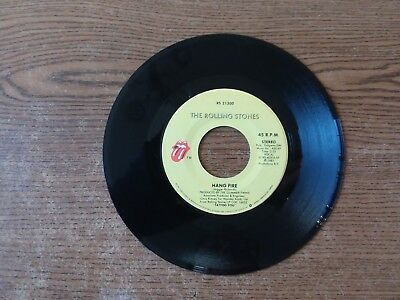 1982 M-EXC Rolling Stones Hang Fire Rs 21300 Neighbors 45