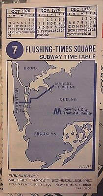 Subway Map Nyc D Train.Nos 1976 New York City Subway D Train Color Timetable Line Map