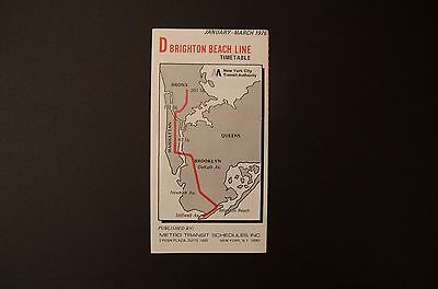 Subway Map Nyc D Train.Nos 1976 New York City Subway D Train Color Timetable Line Map Schedule Nyc