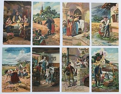 (8) Antique The Lord's Prayer Post Cards