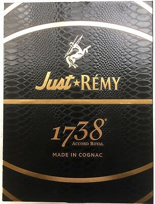 Collectible Just Don Remy Martin 1738 Cognac Limited Edition Shoe Box & Laces
