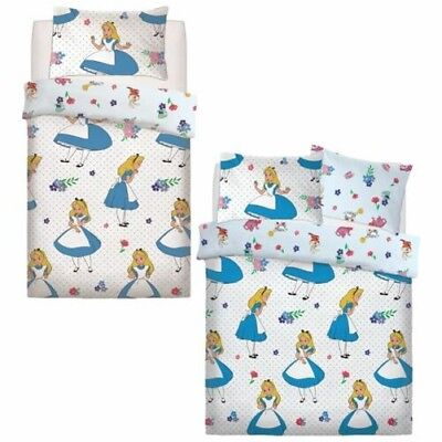 Disney Alice In Wonderland Falling Duvet Set Bed Quilt Cover Pillowcase Bedding
