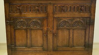 Antique Oak Tudor Rose style sideboard