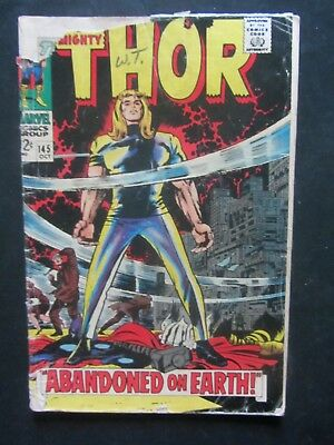 THOR #145 gd 1967 KIRBY-cover /art Marvel Silver Age 1 book lot
