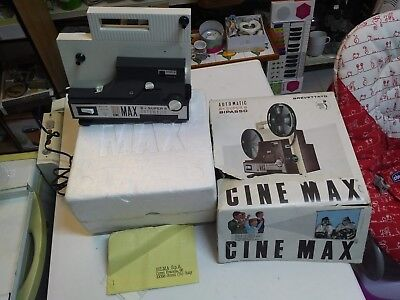 VideoProiettore VINTAGE Automatic 8+SUPER8 Bipasso CINE MAX I.G.C. Made in Italy