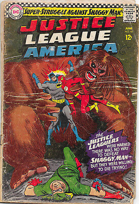 Justice League Of America #45 DC Comics 1960s 1st Appearance of Shaggy Man Fr