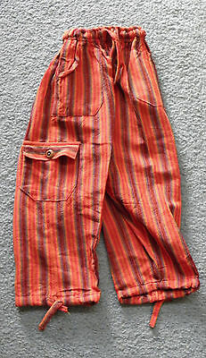 Made In Peru Cotton & Rayon Casual Colorful Baggie Pants Children Size #100906