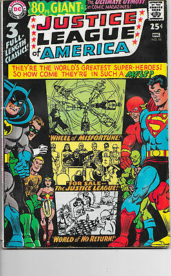 Giant Size Justice League Of America #58 DC Comics 1960s VG/F